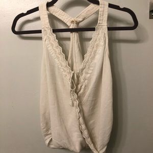 Hollister Off-White Wrap Tie Tank Top